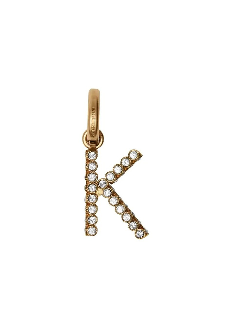 Burberry Crystal 'K' Alphabet Charm