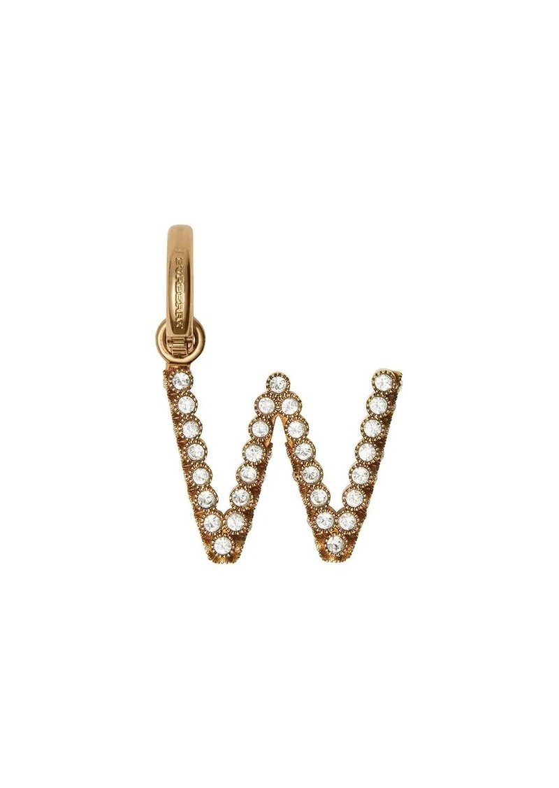 Burberry Crystal 'W' Alphabet Charm