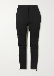 Burberry Cutout Ramie-blend Skinny Pants