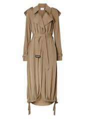 Burberry Cyla Jersey Trench Drawstring Hem Coat