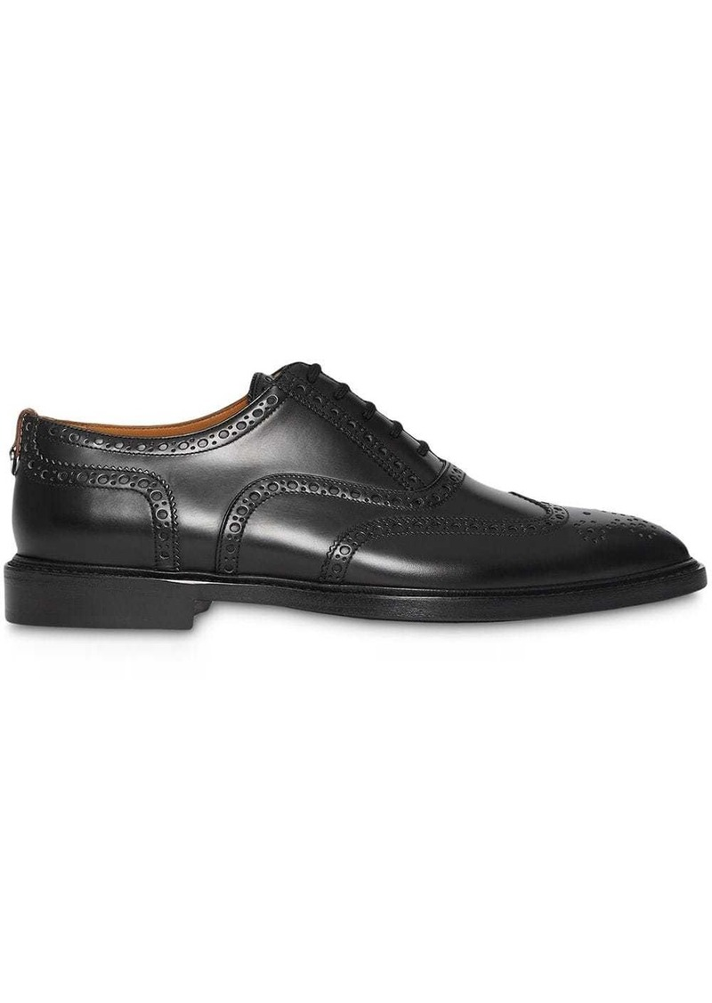 Burberry D-ring Detail Patent Leather Oxford Brogues