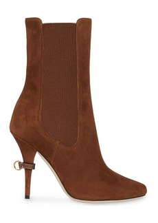 Burberry D-ring Detail Suede Ankle Boots