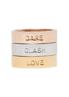 Burberry Dare, Clash, Love set of three stacking rings