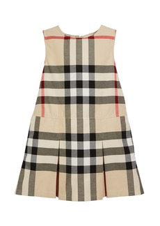 Burberry Dawny Sleeveless Pleated Check Dress