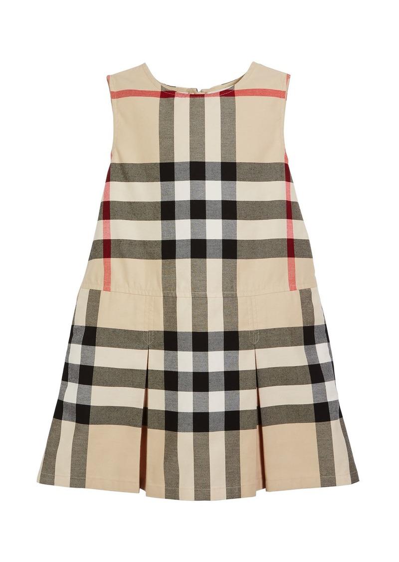 9d742f19d599 Burberry Dawny Sleeveless Pleated Check Dress