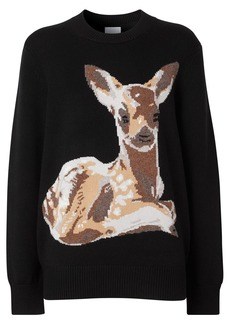 Burberry deer intarsia jumper