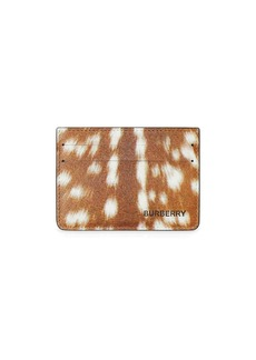 Burberry Deer Print Leather Card Case