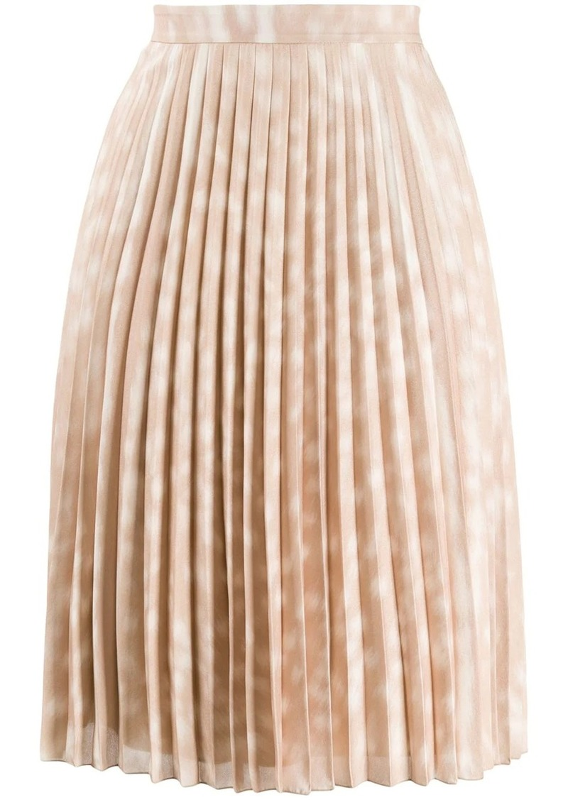 Burberry deer print pleated skirt
