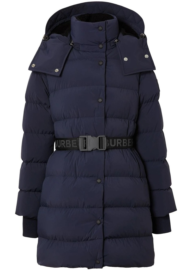 Burberry detachable hood belted puffer jacket