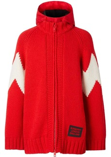 Burberry detachable hood cardigan