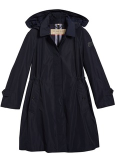 Burberry detachable hood showerproof coat