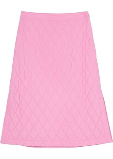 Burberry diamond-quilted A-line skirt