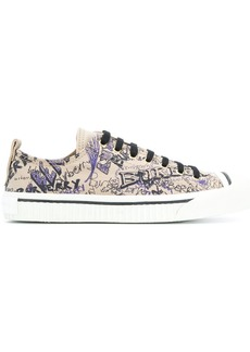 Burberry doodle print sneakers
