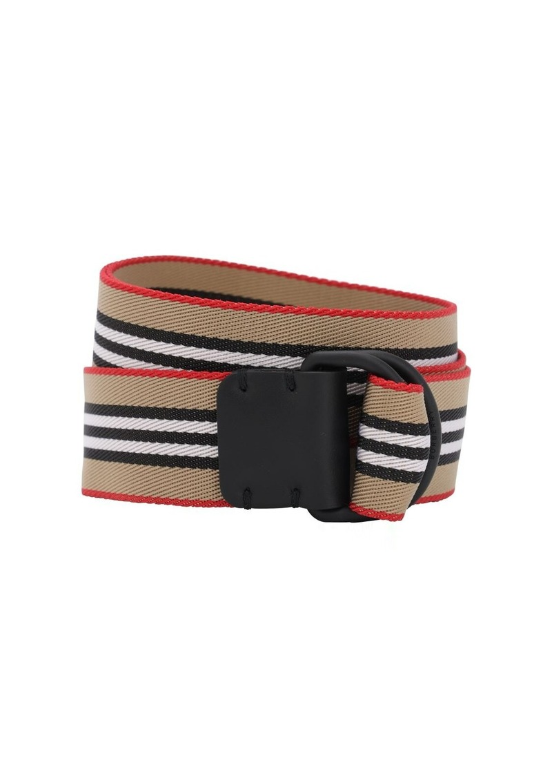 Burberry Double D Ring Tech Webbing Belt
