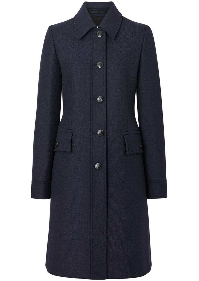 Burberry Double-faced Wool Cashmere Blend Coat