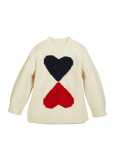 Burberry Double Heart Intarsia Sweater