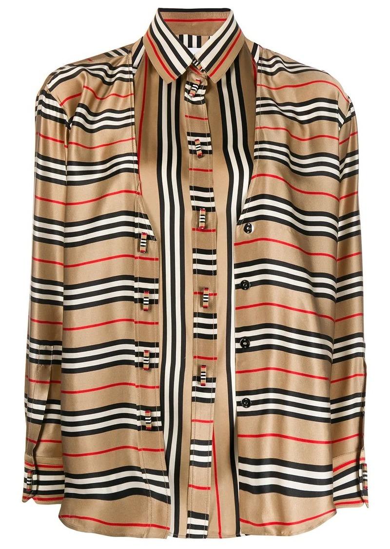 Burberry double-layer Icon Stripe shirt