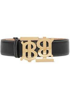 Burberry double monogram buckle belt