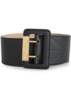 Burberry Double Pin Buckle Leather Belt