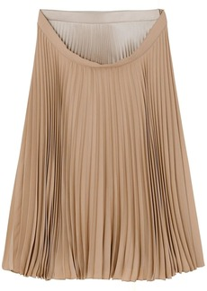 Burberry double-waist pleated skirt