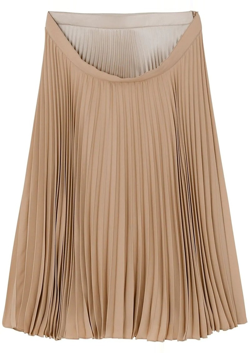 Burberry double-waist pleated skirt