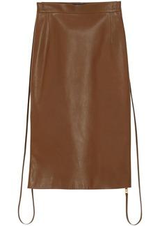 Burberry Double Zip Lambskin Skirt