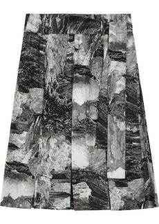 Burberry Dreamscape Print Pleated Silk Tie-waist Skirt