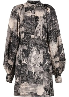 Burberry Dreamscape Print Silk Shirt Dress