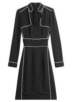 Burberry Dress with Contrast Piping