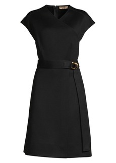 Burberry Dulsie Wrap Front A-Line Dress