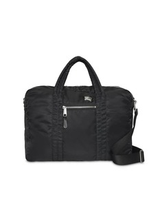 Burberry EKD Aviator Nylon and Leather Briefcase