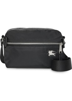 Burberry EKD Aviator Nylon and Leather Crossbody Bag
