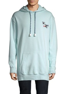 Burberry Elison Embroidered Cotton Hoodie