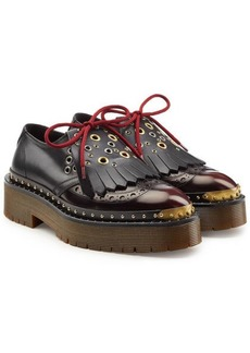 Burberry Embellished Leather Brogues