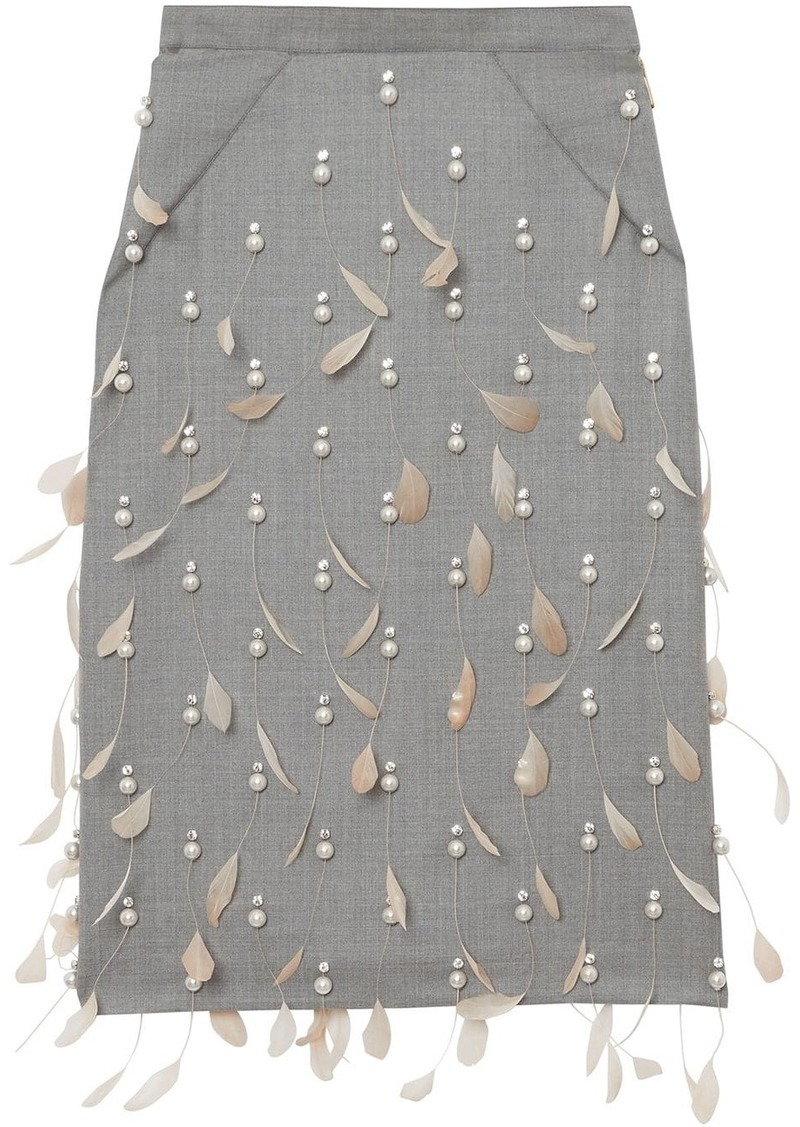Burberry embellished pencil skirt