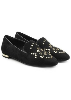 Burberry Embellished Suede Slippers