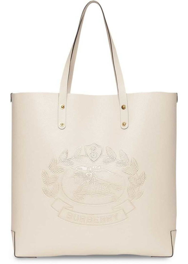 f06b180a3ab Burberry Embossed Crest Leather Tote