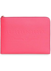 Burberry embossed leather document case