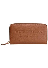 Burberry embossed ziparound wallet