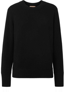 Burberry Embroidered Crest Cashmere Sweater