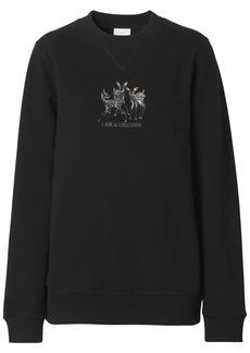 Burberry embroidered deer oversized sweatshirt
