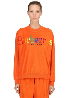 Burberry Embroidered French Terry Sweatshirt