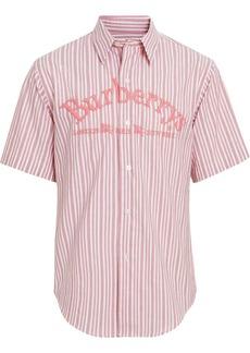 Burberry embroidered logo shirt
