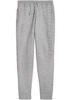 Burberry embroidered logo sweatpants