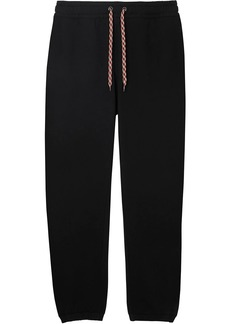 Burberry embroidered logo track trousers