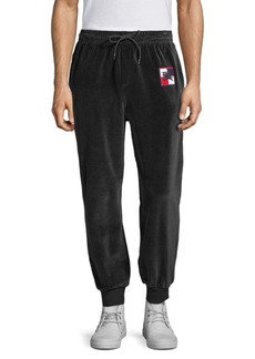 Burberry Embroidered Logo Velour Sweatpants