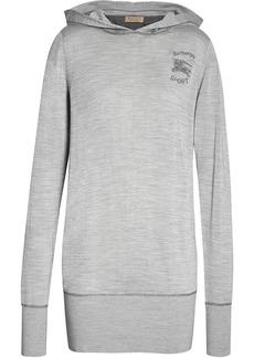 Burberry Logo print cashmere hoodie