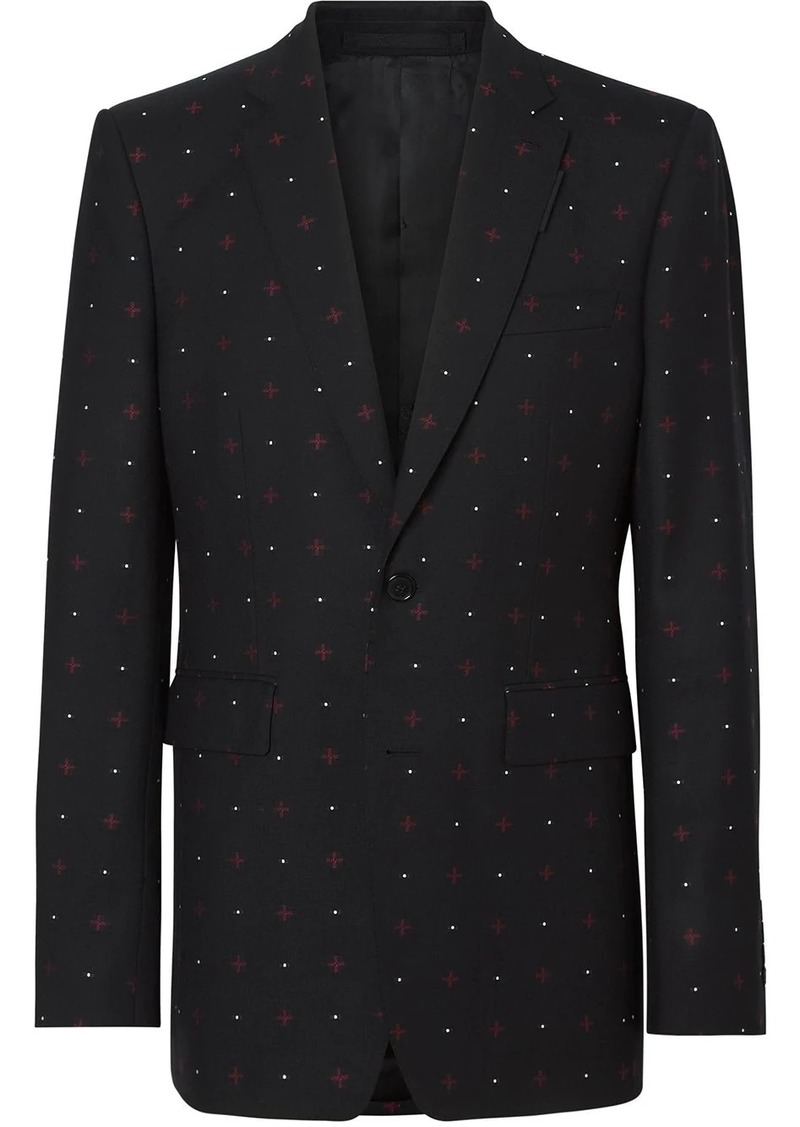 Burberry English fit Fil Coupé tailored jacket