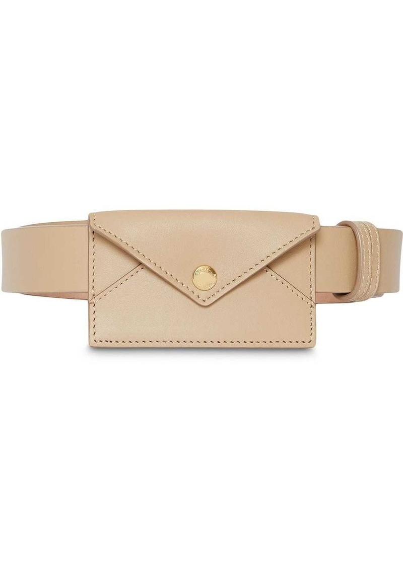 Burberry Envelope Detail Leather Belt