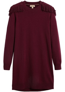 Burberry epaulette detail jumper dress